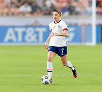 HOUSTON, TX - JUNE 10: Abby Dahlkemper #7 of the United States brings the ball up the field during a game between Portugal and USWNT at BBVA Stadium on June 10, 2021 in Houston, Texas.