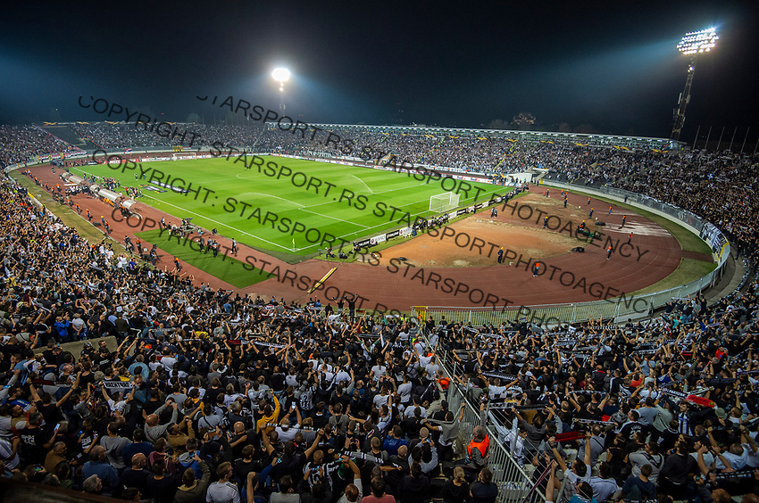 Fudbal UEFA Europa League Group L season 2019/2020<br /> Partizan v Manchester United<br /> Grobari navijaci zastave flags fans supporters  Total General overview of the stadium FK Partizan<br /> Beograd, 24.10.2019.<br /> foto: Miroslav Todorovic/Starsportphoto ©