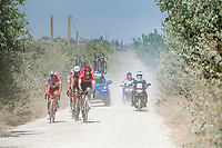 the breakaway group<br /> <br /> 14th Strade Bianche 2020<br /> Siena > Siena: 184km (ITALY)<br /> <br /> delayed 2020 (summer!) edition because of the Covid19 pandemic > 1st post-Covid19 World Tour race after all races worldwide were cancelled in march 2020 by the UCI