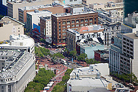aerial photograph mid Market Streeet Civic Center San Francisco, California