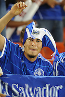 El Salvador fan.   The Guatemalan National Team defeated  El Salvador National Team 2-0 in a friendly international at RFK Stadium, Saturday September 7, 2010.