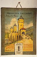 Europe/France/Midi-Pyrénées/46/Lot/Cahors: Vieux calendrier publicitaire représentant le pont Valentré