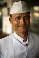 A waiter in the Indian Coffee House, Baba Kharak Singh Marg, New Delhi.