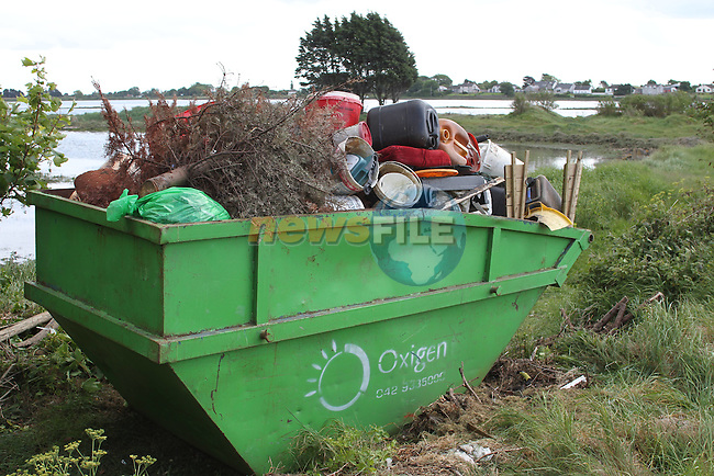 Full skip at Queensboro at the clean up along the banks of the Boyne River...(Photo credit should read Jenny Matthews www.newsfile.ie)....This Picture has been sent you under the conditions enclosed by:.Newsfile Ltd..The Studio,.Millmount Abbey,.Drogheda,.Co Meath..Ireland..Tel: +353(0)41-9871240.Fax: +353(0)41-9871260.GSM: +353(0)86-2500958.email: pictures@newsfile.ie.www.newsfile.ie.