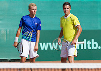 August 13, 2014, Netherlands, Raalte, TV Ramele, Tennis, National Championships, NRTK, Mens Doubles: Kevin Benning/Yannick Zenden (NED) <br /> Photo: Tennisimages/Henk Koster