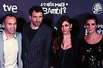 Premiere in Barcelona: ¿Quien mato a Bambi?<br /> Andres Iniesta, Julian Villagran, Ursula Corbero & Clara Lago.