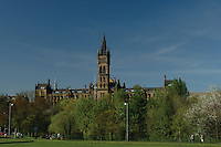 Glasgow University and Kelvingrove Park, Glasgow<br /> <br /> Copyright www.scottishhorizons.co.uk/Keith Fergus 2011 All Rights Reserved