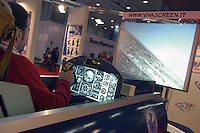 - SMAU, international exibition of electronics, computer and technological innovation, flight simulator..- SMAU, salone internazionale dell'elettronica, informatica e innovazione tecnologica, simulatore di volo