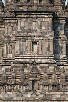 Yogyakarta, Java, Indonesia.  Prambanan Temples.  Brahma Temple, with Lord Brahma.
