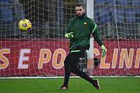 Pau Lopez of AS Roma warms up during the Serie A football match between AS Roma and UC Sampdoria at Olimpico stadium in Roma (Italy), January 3rd, 2021. Photo Andrea Staccioli / Insidefoto
