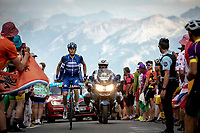 Enric Mas (ITA/Deceuninck Quick Step) putting his windjacket on up the Col du Galibier (HC/2622m/23km@5.1%)<br /> <br /> Stage 18: Embrun to Valloire (208km)<br /> 106th Tour de France 2019 (2.UWT)<br /> <br /> ©kramon