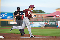 Frisco RoughRiders shortstop Drew Robinson (16) runs the bases after hitting a home run during a game against the Springfield Cardinals on June 3, 2015 at Hammons Field in Springfield, Missouri.  Springfield defeated Frisco 7-2.  (Mike Janes/Four Seam Images)