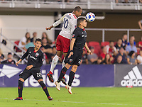 Washington, DC - August 19, 2018: D.C. United defeated the New England Revolution 2-0 during a Major League Soccer (MLS) match at Audi Field.