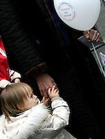 """Una bambina alla manifestazione indetta dalla lista """"Aborto? No grazie"""" a Roma, 8 marzo 2008..A child at the demonstration promoted by the list """"Abortion? No thanks"""" in Rome, 8 march 2008..UPDATE IMAGES PRESS/Riccardo De Luca"""