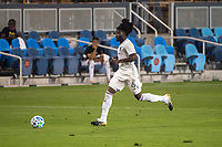 SAN JOSE, CA - SEPTEMBER 05: Lalas Abubakar #6 during a game between Colorado Rapids and San Jose Earthquakes at Earthquakes Stadium on September 05, 2020 in San Jose, California.