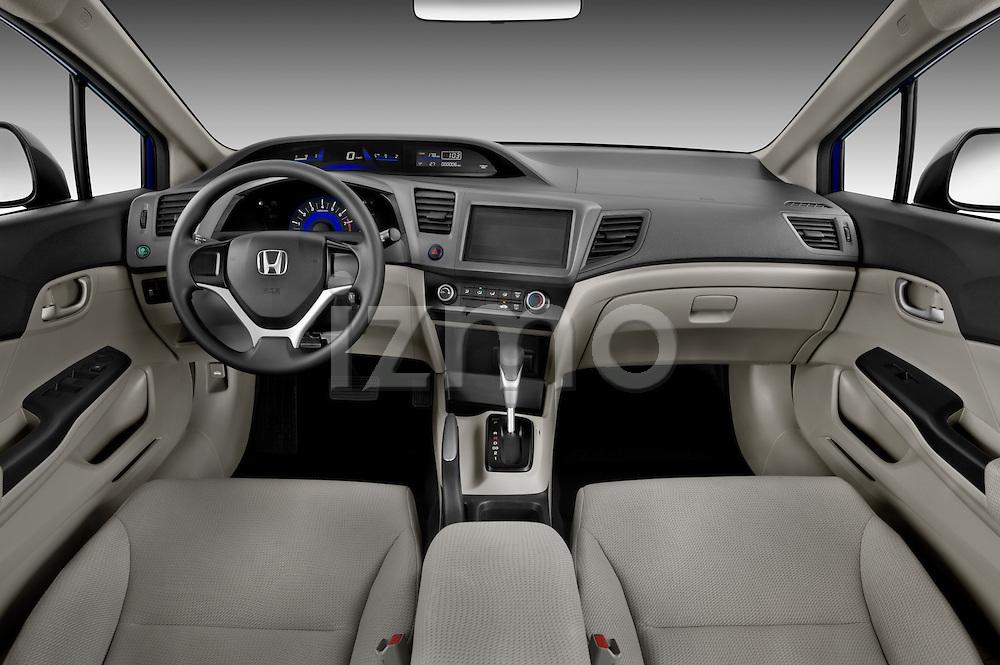 Straight angle dashboard view of a 2012 Honda Civic Sedan DX