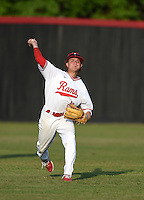 Lake Mary Rams outfielder Joseph Pesce (4) during practice before a game against the Lake Brantley Patriots on April 2, 2015 at Allen Tuttle Field in Lake Mary, Florida.  Lake Brantley defeated Lake Mary 10-5.  (Mike Janes/Four Seam Images)