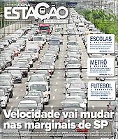 04.10.2016: Jornal Estação - Velocidade vai mudar nas marginais em SP. (Foto: Fábio Vieira/FotoRua)