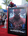 Spider-man attends  COLUMBIA PICTURES' THE AMAZING SPIDER-MAN Premiere held at Regency Village Theater in Westwood, California on June 28,2012                                                                               © 2012 Hollywood Press Agency