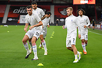 Crystal Palace players warm up during AFC Bournemouth vs Crystal Palace, Carabao Cup Football at the Vitality Stadium on 15th September 2020