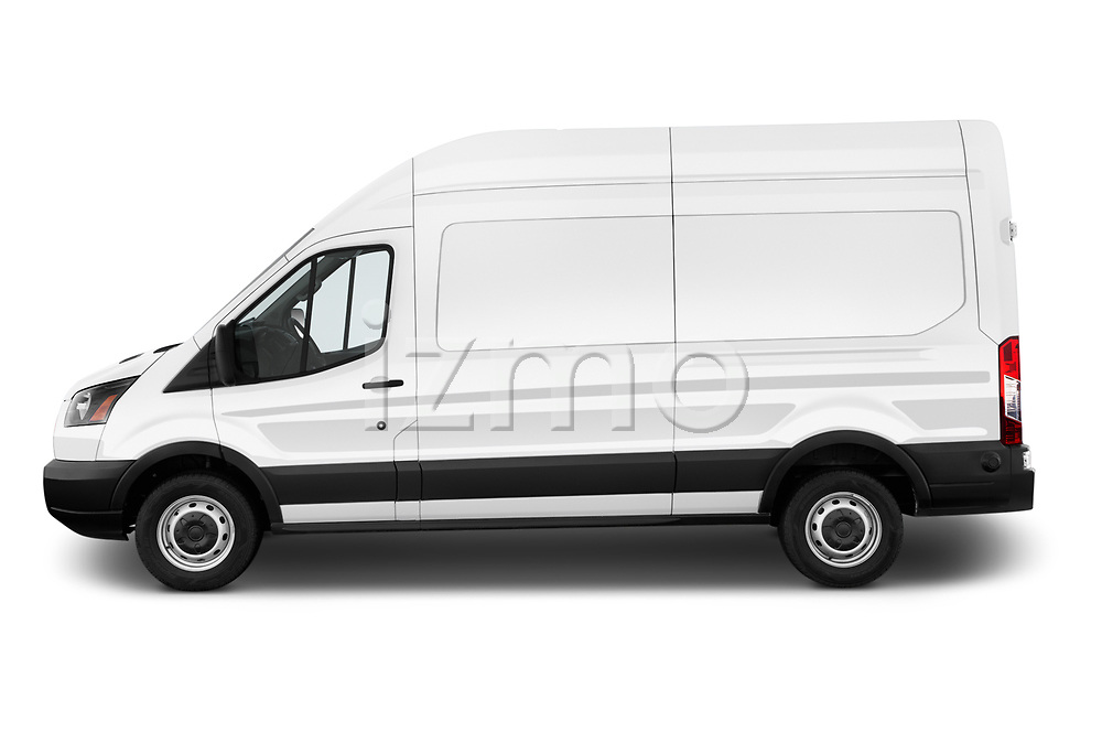 Car Driver side profile view of a 2019 Ford Transit-Van - 4 Door Cargo Van Side View
