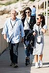 Italian director Ruggero Deodato (L) and Italian actress Carlotta Morelli (C) pose to the media at the photocall in the port at Festival de Cine Fantastico de Sitges in Barcelona. October 11, Spain. 2016. (ALTERPHOTOS/BorjaB.Hojas)