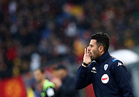 Football, Serie A: AS Roma - Brescia FC, Olympic stadium, Rome, November 24, 2019. <br /> Brescia's coach Fabio Grosso speaks with his players during the Italian Serie A football match between Roma and Brescia at Olympic stadium in Rome, on November 24, 2019. <br /> UPDATE IMAGES PRESS/Isabella Bonotto