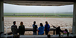 Fans gather at Clocker's Tower to watch as Animal Kingdom, winner of the 137th Kentucky Derby, continues to train for the Preakness at the Fair Hill Training Center on May 14, 2011 in Fair Hill, Maryland.