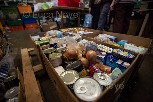 "Main Warehouse ""L'Auberge"" where donations - including food - are managed and then distributed to the camps. <br />