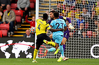 25th September 2021; Vicarge Road, Watford, Herts,  England;  Premier League football, Watford versus Newcastle; Ben Foster of Watford saves a shot by Jacob Murphy of Newcastle United late in the game
