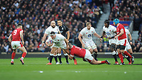 Jamie George of England is tackled by Dillon Lewis of Wales during the Guinness Six Nations match between England and Wales at Twickenham Stadium on Saturday 7th March 2020 (Photo by Rob Munro/Stewart Communications)