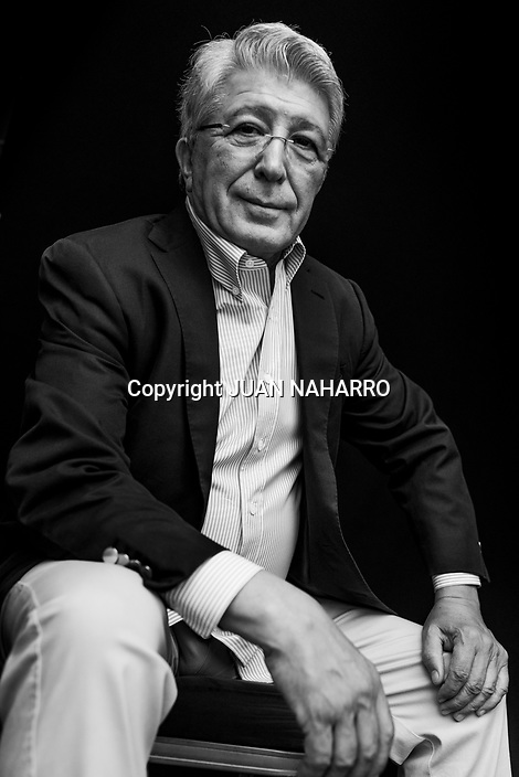 Enrique Cerezo poses during a portrait session.