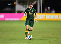 LAKE BUENA VISTA, FL - JULY 18: Diego Valeri #8 of the Portland Timbers dribbles the ball during a game between Houston Dynamo and Portland Timbers at ESPN Wide World of Sports on July 18, 2020 in Lake Buena Vista, Florida.