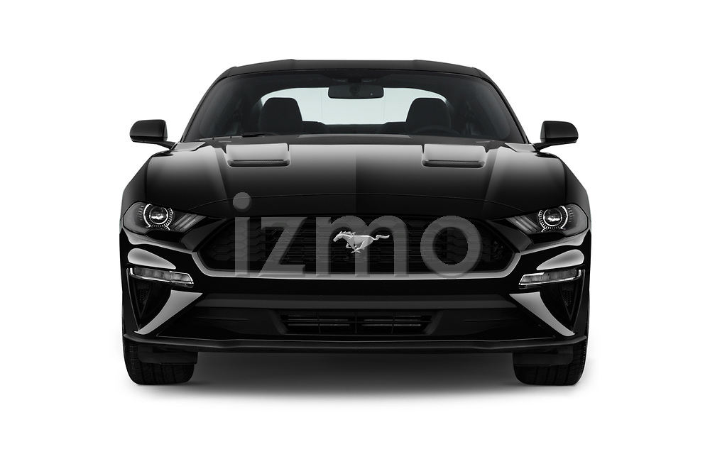 Car photography straight front view of a 2018 Ford Mustang EcoBoost 2 Door Coupe