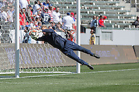 Carson, Calif. - Sunday, February 8, 2015: Goalkeeper Jon Kempin warms up before the match. The USMNT defeated Panama 2-0 in an international friendly at StubHub Center.
