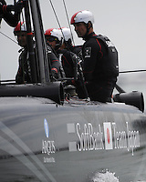 Derek Saward, SoftBank Team Japan, JULY 24, 2016 - Sailing: Derek Saward ,Grinder of SoftBank Team Japan,  during day two of the Louis Vuitton America's Cup World Series racing, Portsmouth, United Kingdom. (Photo by Rob Munro/Stewart Communications)