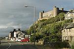 Harlech Castle Gwynedd  A 496 road runs beneath the castle West wales costal road. UK