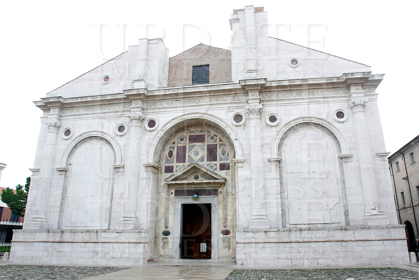 Il Tempio Malatestiano di Rimini.<br /> The Malatesta Temple in Rimini.<br /> UPDATE IMAGES PRESS/Riccardo De Luca
