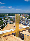 June 26, 2008; Cross on the top of the Basilica steeple during the 2008 renovation/reconstruction work...Photo by Matt Cashore/University of Notre Dame