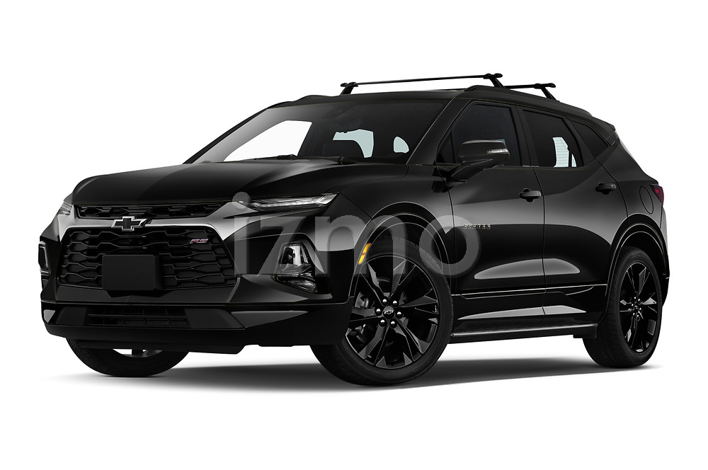 Stock pictures of low aggressive front three quarter view of 2020 Chevrolet Blazer RS 5 Door SUV Low Aggressive