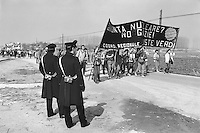 - demonstration against Trino Vercellese nuclear power station (mars 1985)....- manifestazione contro la centrale nucleare di Trino Vercellese (marzo 1985)
