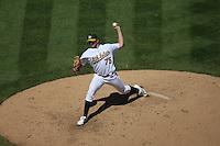 Barry Zito. Baseball: Texas Rangers vs Oakland Athletics at McAfee Coliseum in Oakland, CA on September 4, 2006. Photo by Brad Mangin