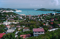 AMELIA BAY with SAIL BOATS - ST. THOMAS ISLAND, U.S. VIRGIN ISLANDS, CARIBBEAN