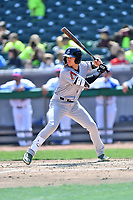 Jackson Generals shortstop Galli Cribs (2) swings at a pitch during a game against the Tennessee Smokies at Smokies Stadium on April 11, 2018 in Kodak, Tennessee. The Generals defeated the Smokies 6-4. (Tony Farlow/Four Seam Images)