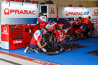 2nd October 2021; Austin, Texas, USA;  Pramac pit before Free Practise 3 at the MotoGP Red Bull Grand Prix of the Americas held October 2, 2021 at the Circuit of the Americas in Austin, TX.