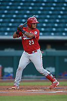 Andruw Salcedo (25) of the ACL Reds during a game against the ACL Cubs on September 17, 2021 at Sloan Park in Mesa, Arizona. (Tracy Proffitt/Four Seam Images)