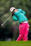 Mi-Hyang Lee of Korea in action during the Hyundai China Ladies Open 2014 on December 12 2014 at Mission Hills Shenzhen, in Shenzhen, China. Photo by Li Man Yuen / Power Sport Images