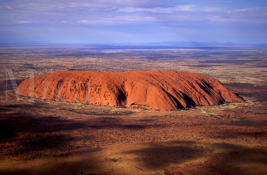 Aerial View of Uluru  (Ayers Rock), Australia