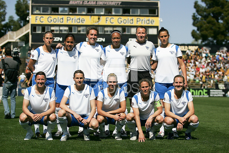 Boston Breakers Starting Eleven. FC Gold Pride defeated the Boston Breakers 2-1 at Buck Shaw Stadium in Santa Clara, California on April 5th, 2009. Photo by Kelley Cox /isiphotos.com