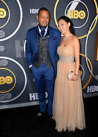 LOS ANGELES, USA. September 23, 2019: Terrence Howard & Miranda Pak at the HBO post-Emmy Party at the Pacific Design Centre.<br /> Picture: Paul Smith/Featureflash